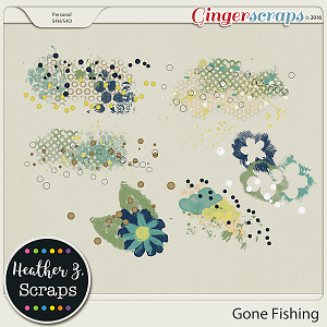 Gone Fishing PAINT by Heather Z Scraps