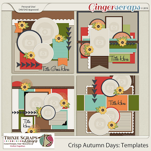 Crisp Autumn Days Templates by Trixie Scraps Designs