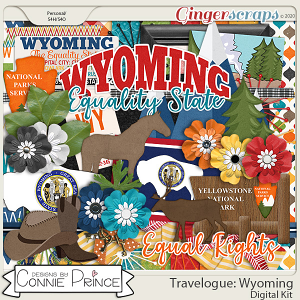 Travelogue Wyoming - Kit by Connie Prince