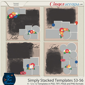 Simply Stacked 53-56 Templates by Miss Fish