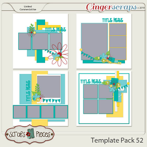 Template Pack 52 by Scraps N Pieces
