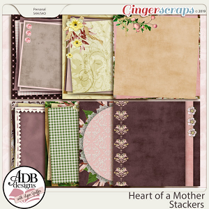 Heart of a Mother Stacked Papers