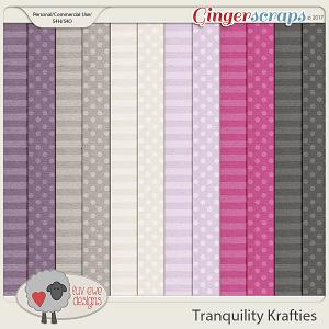 Tranquility Krafties Papers by Luv Ewe Designs