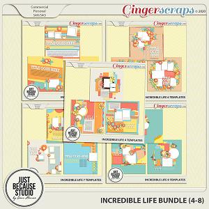 Incredible Life Templates Bundle (Sets 4 - 8) by JB Studio