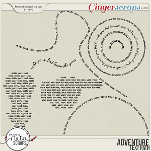 Adventure - Text Path - by Neia Scraps
