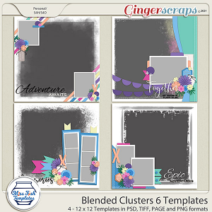 Blended Clusters 6 Templates by Miss Fish