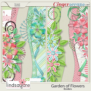 Garden of Flowers Borders by Lindsay Jane