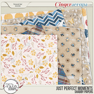 Just Perfect Moments - Shabby Papers - by Neia Scraps