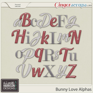 Bunny Love Alpha Sets by Aimee Harrison