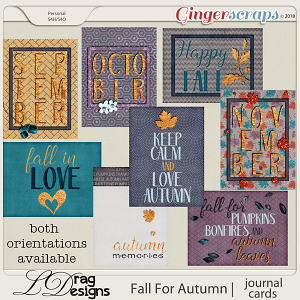 Fall For Autumn: Journal Cards by LDrag Designs