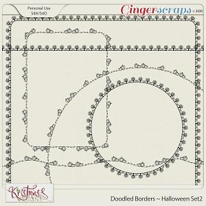 Doodled Borders ~ Halloween Set2