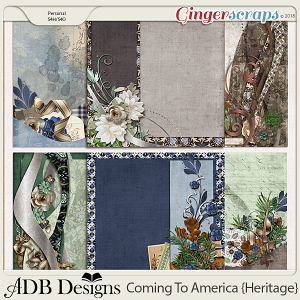 Coming To America Stacked Papers by ADB Designs