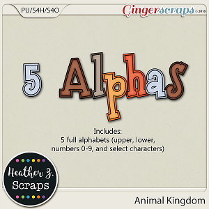 Animal Kingdom ALPHABETS by Heather Z Scraps