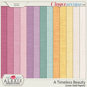 A Timeless Beauty - Linen Solid Papers