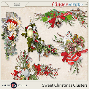 Sweet Christmas Clusters by Snickerdoodle Designs and Linda Cumberland Designs