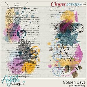 Golden days. Artistic Blends by Angelle Designs