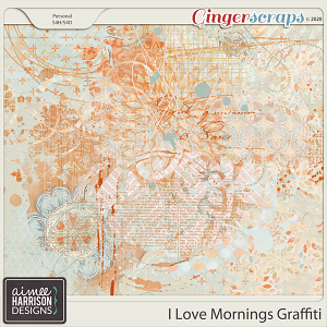 I Love Mornings Graffiti by Aimee Harrison