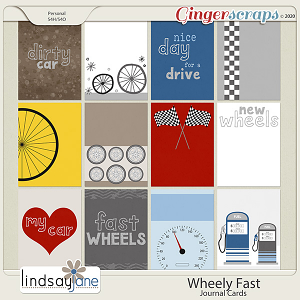 Wheely Fast Journal Cards by Lindsay Jane