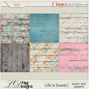 Life Is Sweet: Worn Out Papers by LDrag Designs