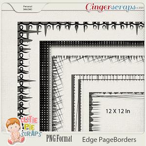 Edge Page Borders 01  By Cutie Pie Scraps