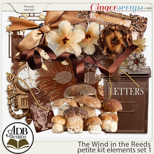 The Wind in the Reeds Elements Set 01 by ADB Designs