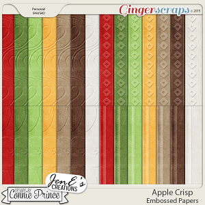 Apple Crisp - Embossed Papers