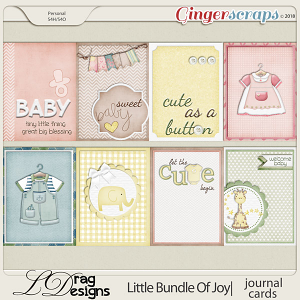 Little Bundle Of Joy: Journal Cards by LDragDesigns