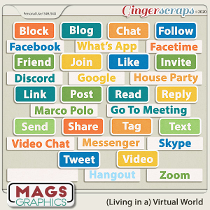 Virtual World WORD TAGS by MagsGraphics