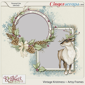 Vintage Kristmess Artsy Frames