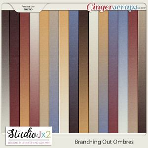 Branching Out Ombre Paper Pack