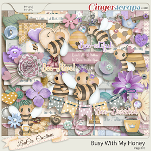 Busy With My Honey Page Kit