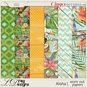 Aloha: Worn Out Papers by LDragDesigns