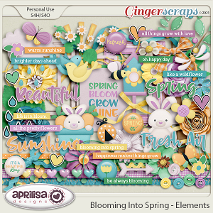Blooming Into Spring - Elements by Aprilisa Designs