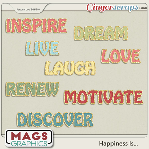 Happiness Is TITLES by MagsGraphics