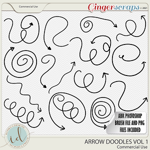 CU Arrow Doodles Vol 1 by Ilonka's Designs