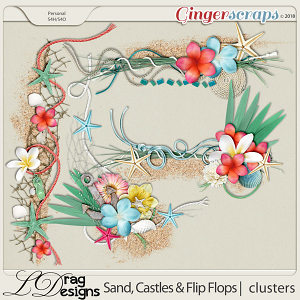 Sand, Castles & Flip Flops: Clusters by LDragDesigns