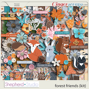 Forest Friends Digital Scrapbooking Kit by Shepherd Studio