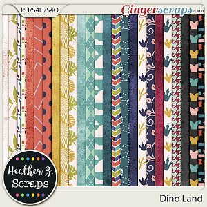 Dino Land PAPERS by Heather Z Scraps