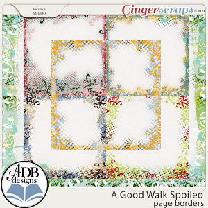 A Good Walk Spoiled Page Borders by ADB Designs