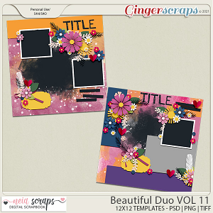 Beautiful Duo - Templates - VOL 11 - by Neia Scraps