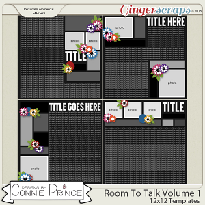 Room To Talk Volume 1 - 12x12 Temps (CU Ok) by Connie Prince