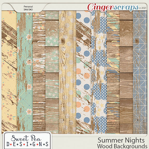 Summer Nights Wood Backgrounds