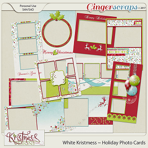 White Kristmess Holiday Photo Cards