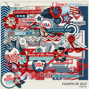Fourth Of July Page Kit by JB Studio