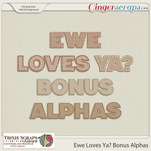 Ewe Loves Ya? Bonus Alphas by Trixie Scraps Designs