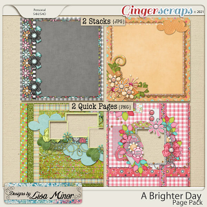 A Brighter Day Page Pack from Designs by Lisa Minor