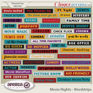 Movie Nights - Wordstrips