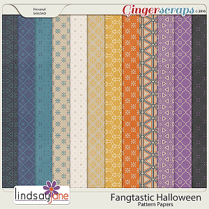 Fangtastic Halloween Pattern Papers by Lindsay Jane