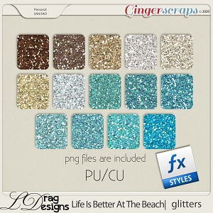 Life Is Better At The Beach: Glitterstyles by LDragDesigns