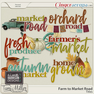Farm to Market Road Titles by Aimee Harrison and Tami Miller Designs